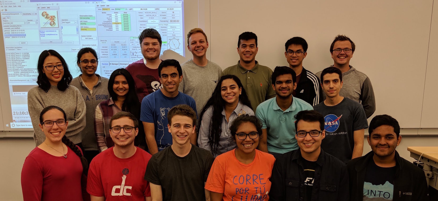 Photo of Spring 2018 UCLA SETI class